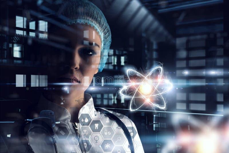 Bioquímica y tecnologías Técnicas mixtas imagen de archivo