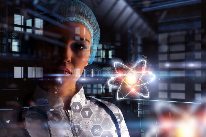 Bioquímica y tecnologías Técnicas mixtas imágenes de archivo libres de regalías