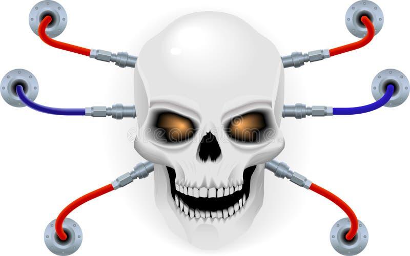biorobot czaszka royalty ilustracja