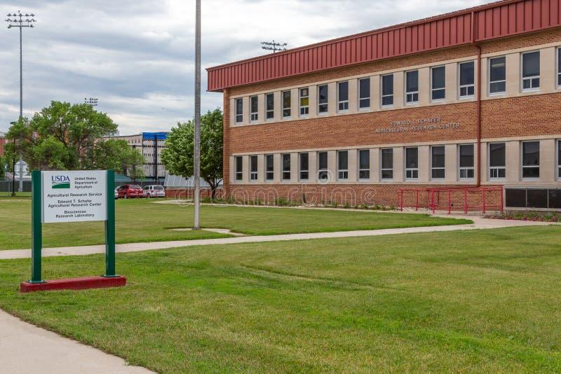 Biosciencesforskningslaboratorium på den North Dakota delstatsuniversitetet arkivbild