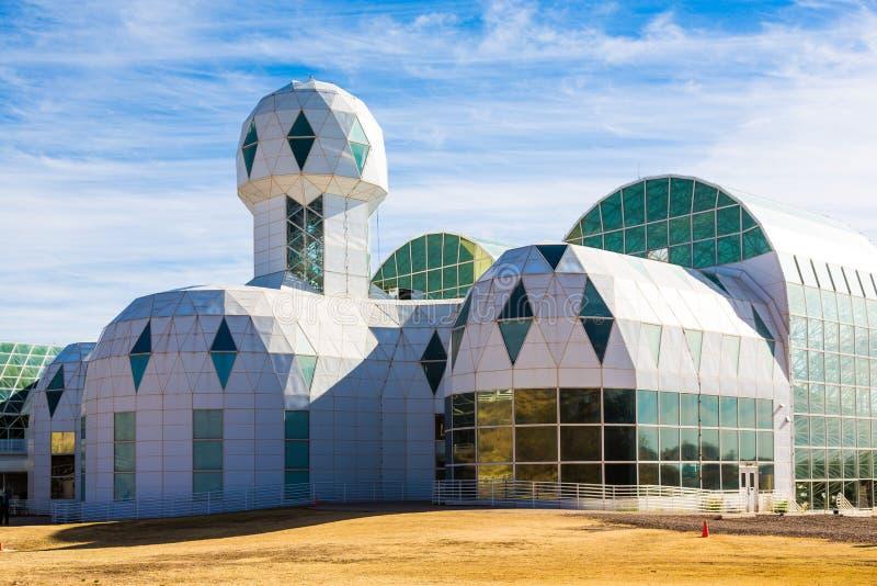 Biosfär 2 är en lätthet för forskning för jordsystemvetenskap royaltyfri foto