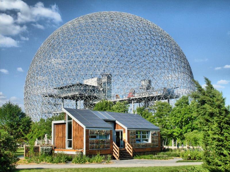 Biosfeer van Montreal stock afbeelding