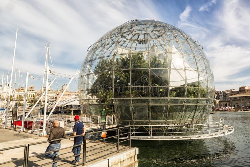 Biosfera από το Renzo Piano στη Γένοβα στοκ φωτογραφία με δικαίωμα ελεύθερης χρήσης