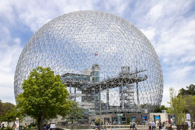 Biosfera de Montreal imagenes de archivo