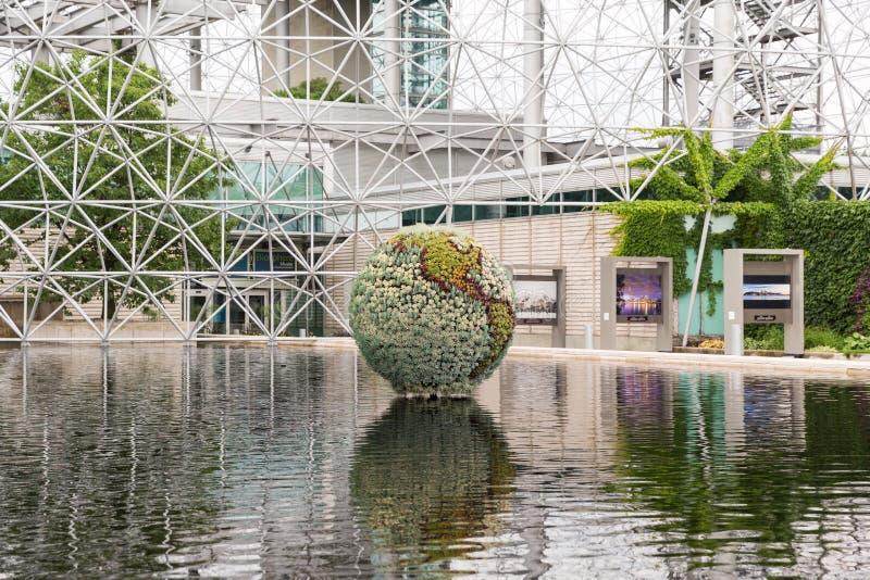 Biosfera em Montreal em Parc Jean-Drapeau, Quebeque, Canadá fotografia de stock