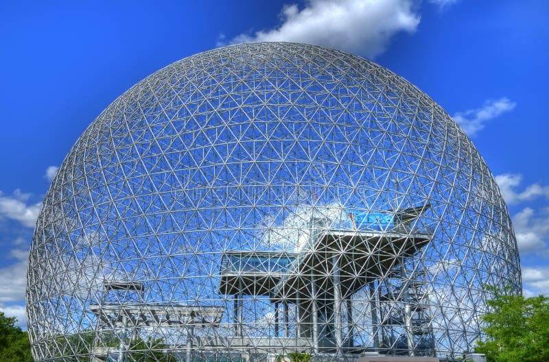 Biosfera a Montreal fotografia stock libera da diritti
