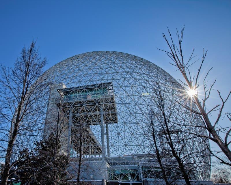 Biosfera a Montreal--Il solo museo dell'ambiente in Nord America fotografie stock libere da diritti