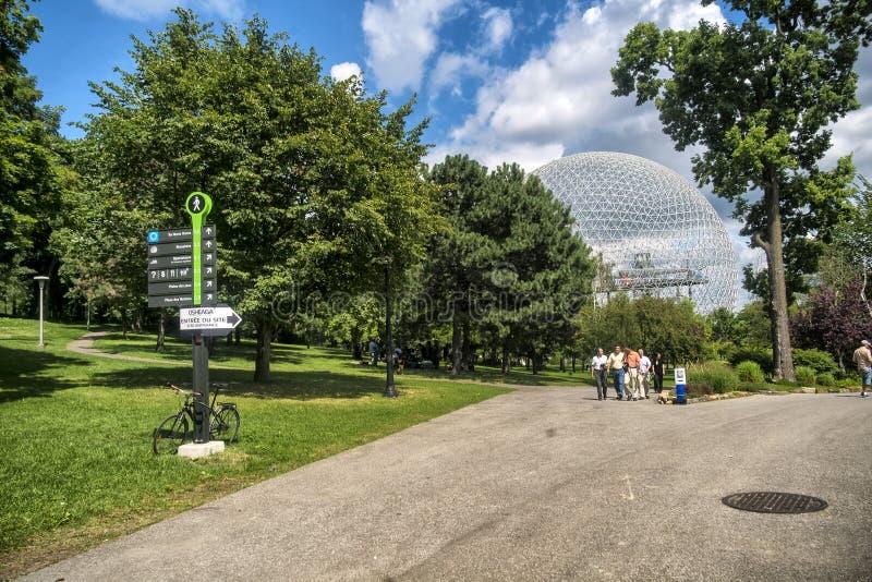 Biosfera, museo dell'ambiente et notte immagine stock libera da diritti
