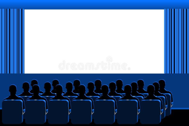Bioskoop - blauwe ruimte royalty-vrije illustratie
