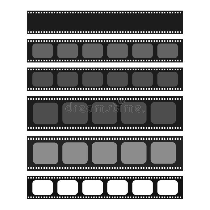 Bioskoop en fotografie 35 mm-de reeks van het strookmalplaatje vector illustratie