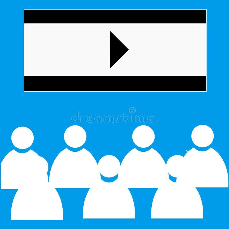 Bioskoop vlak pictogram royalty-vrije stock afbeelding