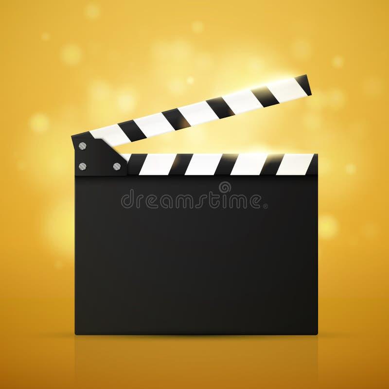 Bioskoopvlieger of Affiche Vector illustratie Het malplaatje van het filmfestival stock illustratie