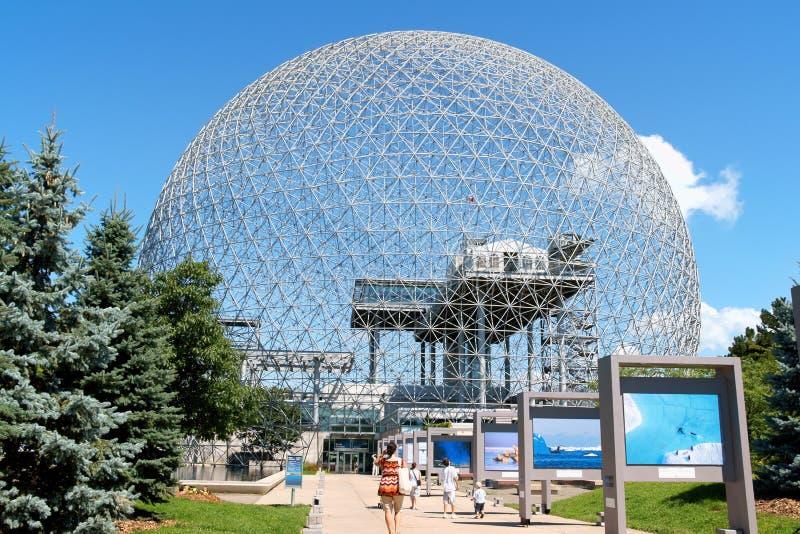 Biosphère de Montréal au Canada photo stock