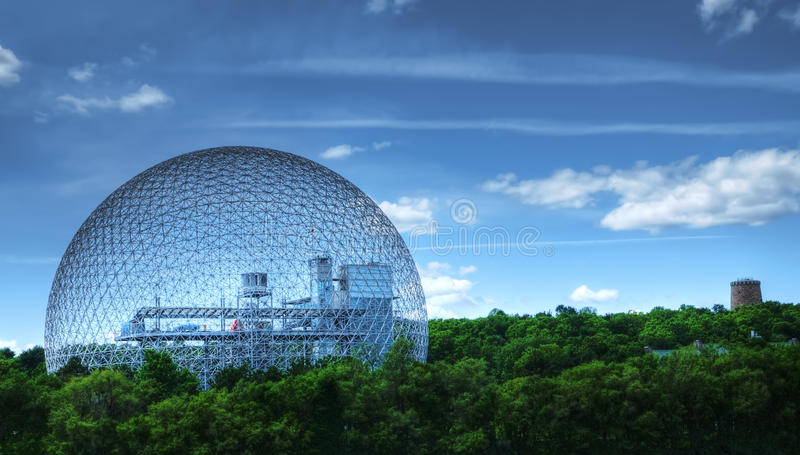 Biosphere 2 in Montreal. The Biosphere on Isle Ste-Helene stock images