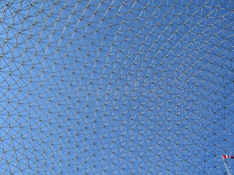 Biosphere_3 met Canadese vlag stock foto's