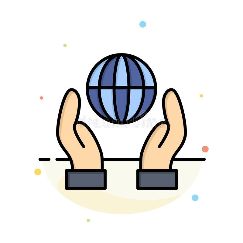 Biosphere, Conservation, Energy, Power Abstract Flat Color Icon Template royalty free illustration