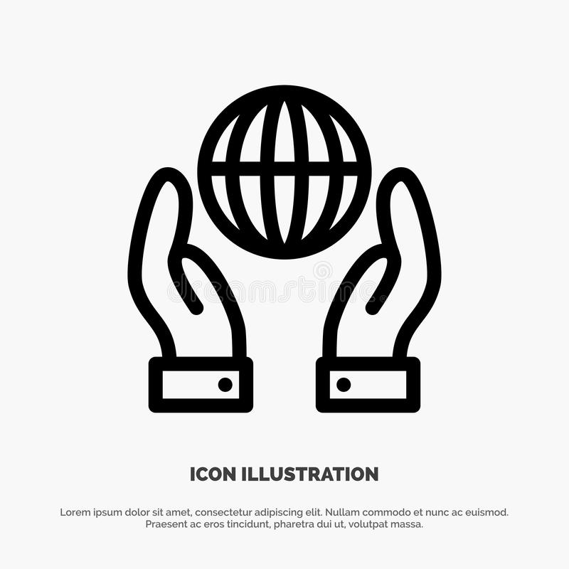 Biosphere, Conservation, Energy, Power Line Icon Vector royalty free illustration