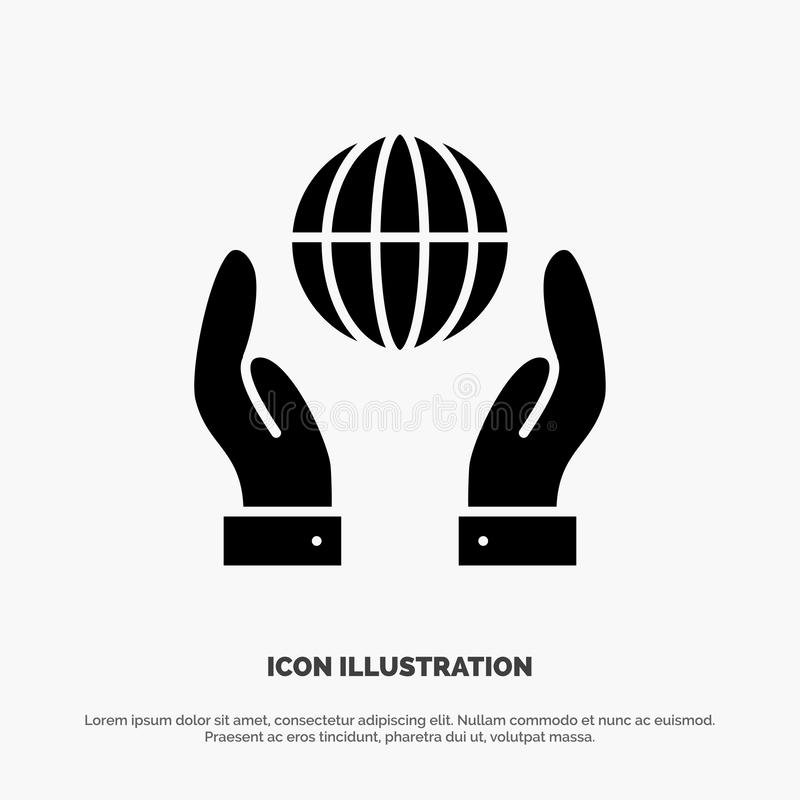 Biosphere, Conservation, Energy, Power solid Glyph Icon vector vector illustration