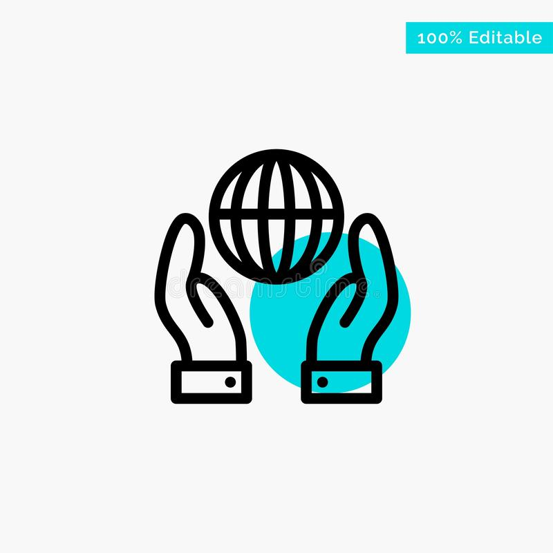 Biosphere, Conservation, Energy, Power turquoise highlight circle point Vector icon vector illustration