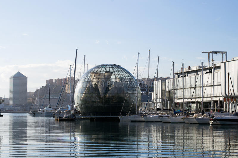 The biosphere in the town of Genova, Italy stock photos