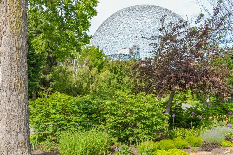 Biosphre metalu park w Parc Jean Drapeau obrazy royalty free