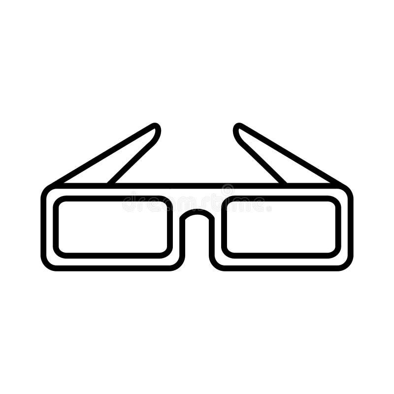 Biosymbol för exponeringsglas 3d vektor illustrationer