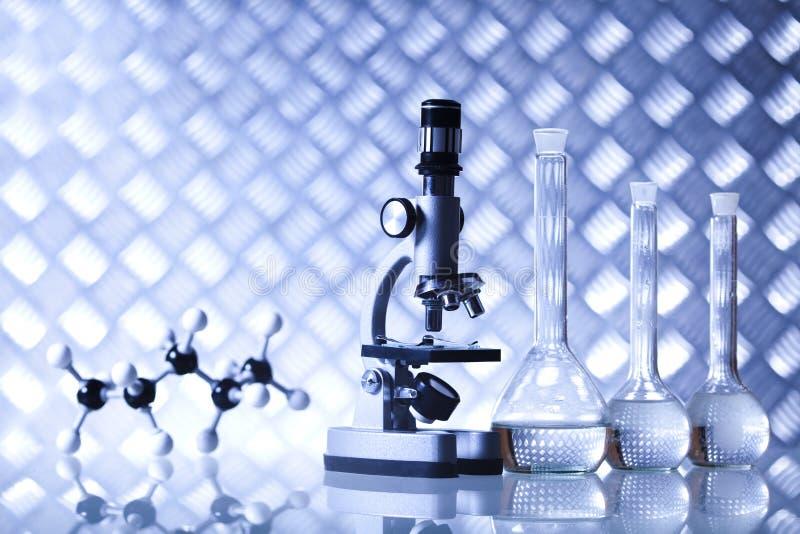Biotechnologia, Chemiczny laborancki glassware obrazy royalty free