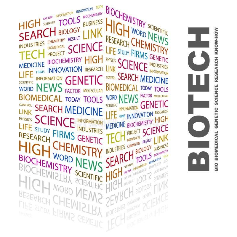BIOTECHNOLOGIE. illustration de vecteur