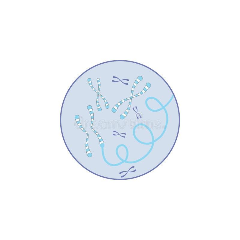Biotechnologie, gène dans l'icône d'insigne Élément d'icône de couleur de biotechnologie illustration de vecteur