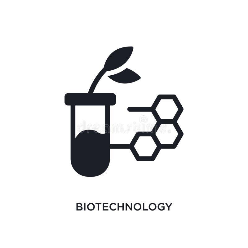 biotechnologie geïsoleerd pictogram eenvoudige elementenillustratie van algemeen-1 conceptenpictogrammen het tekensymbool van het stock illustratie
