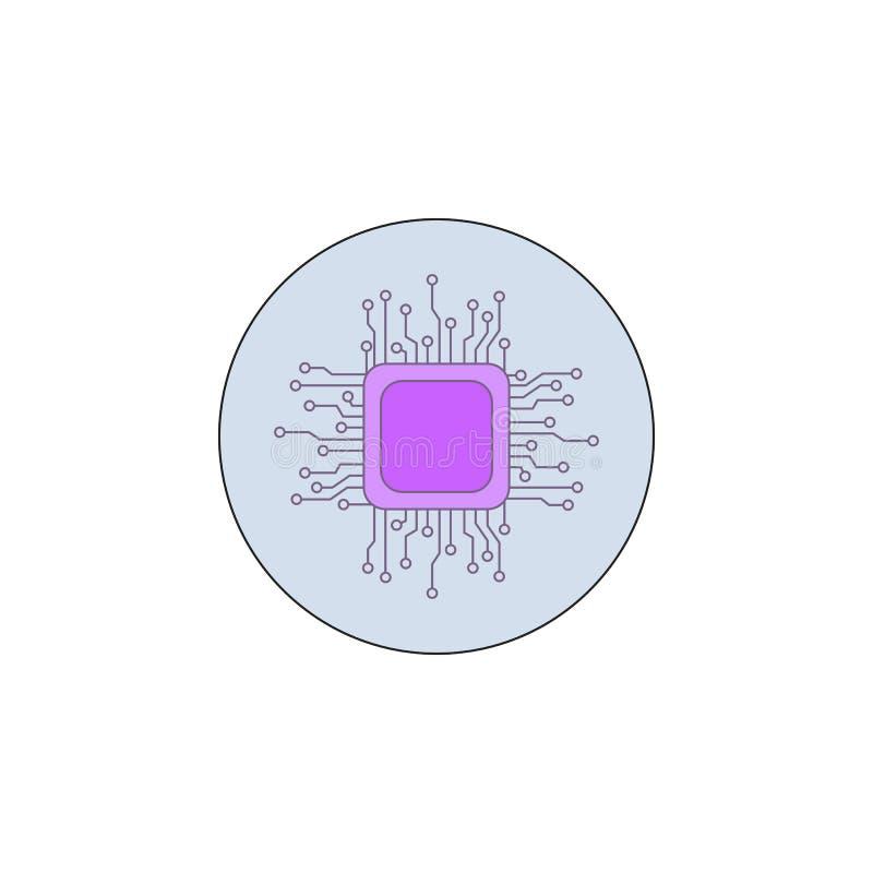 Biotechnologie, spaandertechnologie in kentekenpictogram Element van biotechnologiepictogram vector illustratie