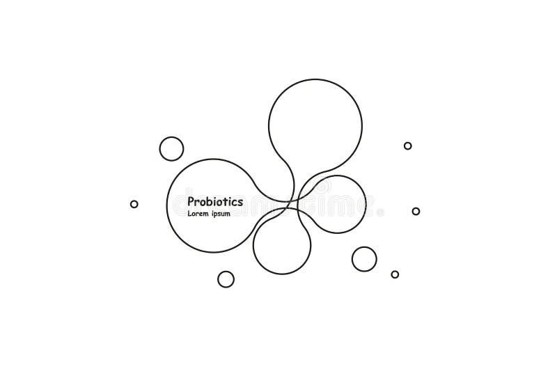 biotechnologie Symboolmolecule Vectorembleemmalplaatje Abstract molecule vectormalplaatje Nanotechnologieontwikkeling stock illustratie