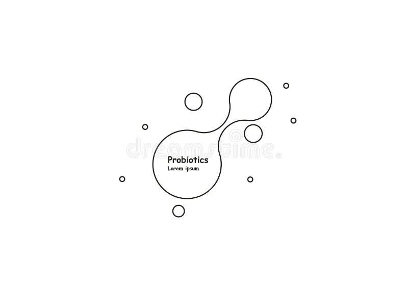 biotechnologie Symboolmolecule Vectorembleemmalplaatje Abstract molecule vectormalplaatje Nanotechnologieontwikkeling vector illustratie