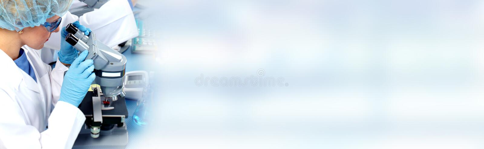Biotechnology research scientist royalty free stock image