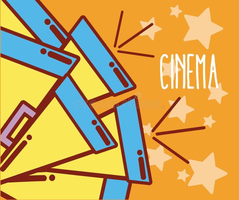 Biotecknad filmdesign vektor illustrationer
