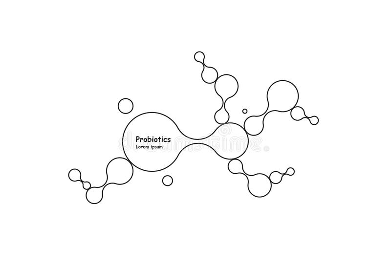 biotecnologia Molecola di simbolo Modello di logo di vettore Modello astratto di vettore della molecola Sviluppo di nanotecnologi royalty illustrazione gratis
