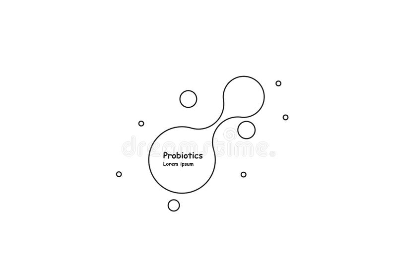 biotecnologia Molecola di simbolo Modello di logo di vettore Modello astratto di vettore della molecola Sviluppo di nanotecnologi illustrazione vettoriale