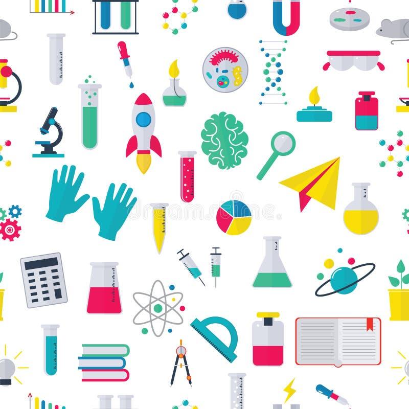 Bioteknik för bakgrund för modell för kemisk för prov för labb för medicinskt laboratorium vetenskaplig för biologi molekyl för d stock illustrationer