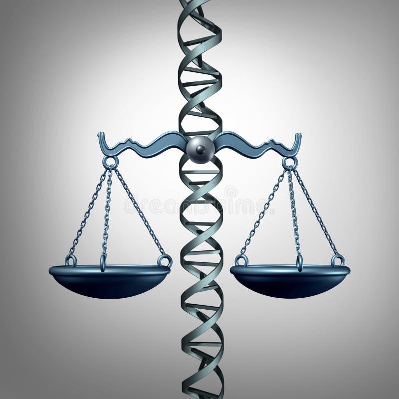 Bioteknisk etik och lagen vektor illustrationer