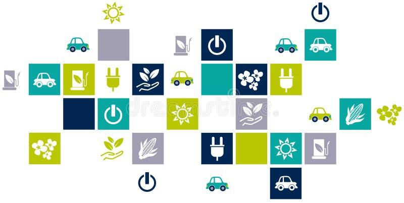 Biotreibstoff/Konzept des alternativen Brennstoffs lizenzfreie abbildung