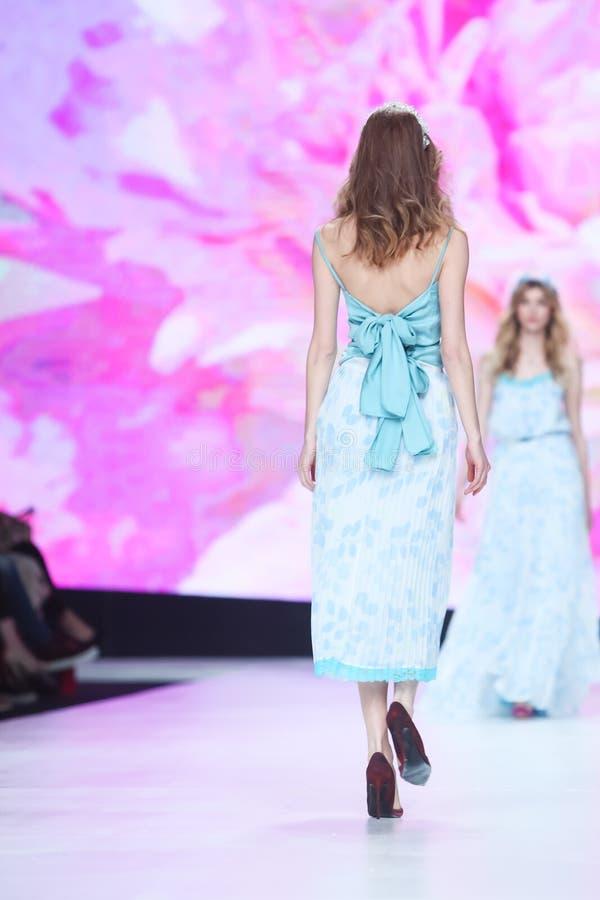 Bipa时尚 hr时装表演2017年:罗伯特切断,萨格勒布,克罗地亚 免版税库存照片