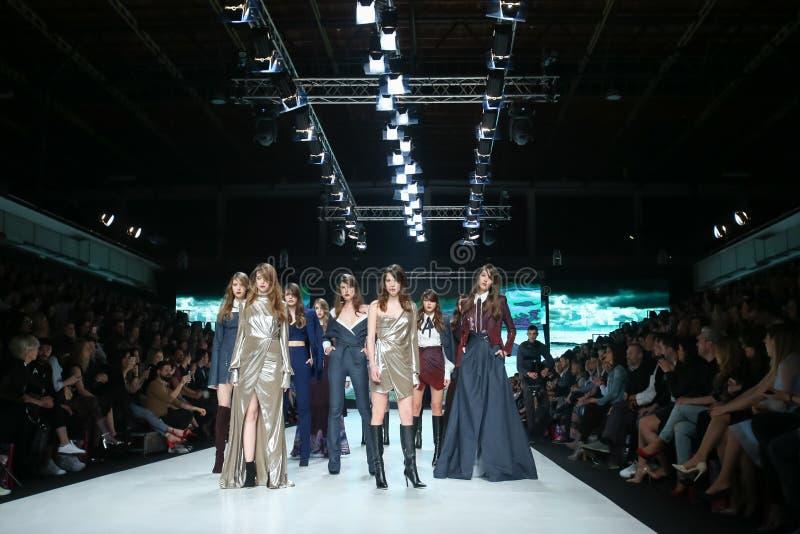 Bipa时尚 hr时装表演2017年:Ines工作室,萨格勒布,克罗地亚 免版税库存图片