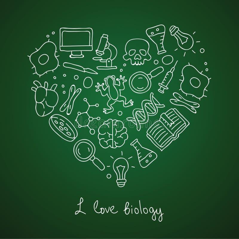 bipeds Εικονίδια με μορφή μιας καρδιάς διανυσματική απεικόνιση