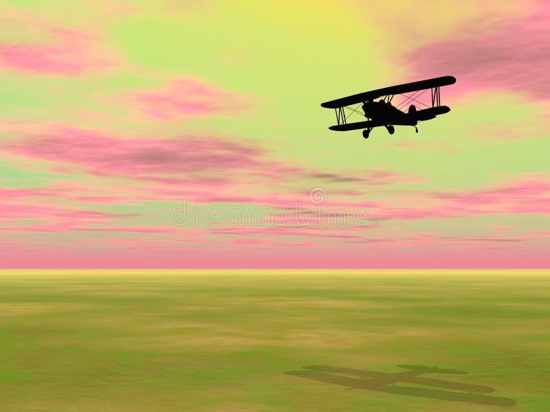 Biplan - 3D odpłacają się ilustracji