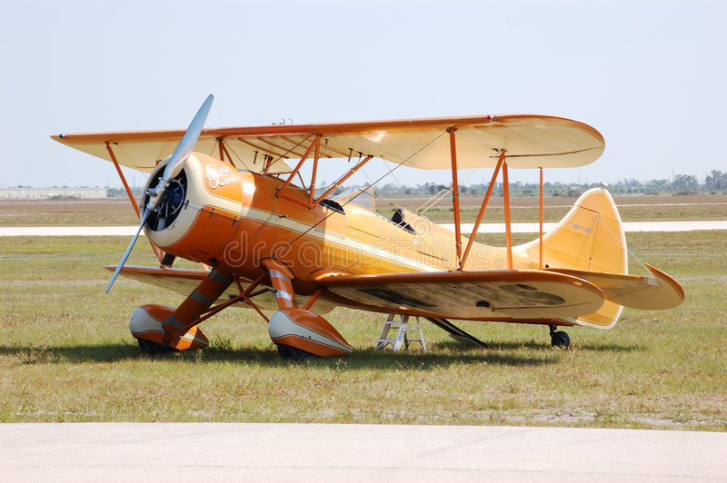 Biplan de Waco photo libre de droits