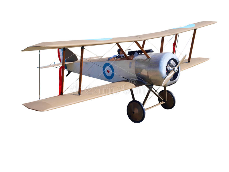 Biplan modèle contrôlé par radio de WWI image stock
