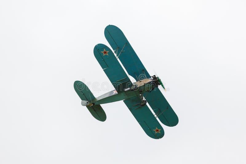 Biplan Polikarpov Po-2, samolot WW2 obrazy royalty free