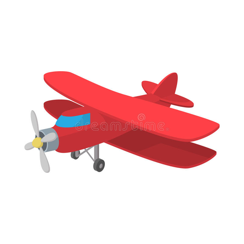 Biplane εικονίδιο, ύφος κινούμενων σχεδίων ελεύθερη απεικόνιση δικαιώματος