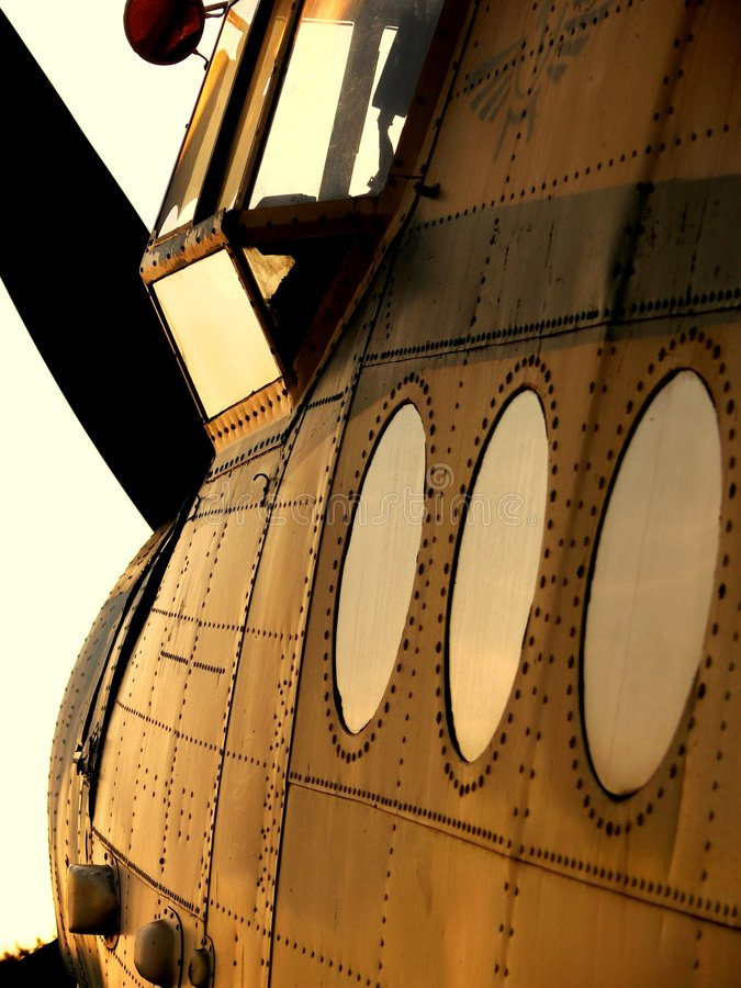 biplane arkivfoto