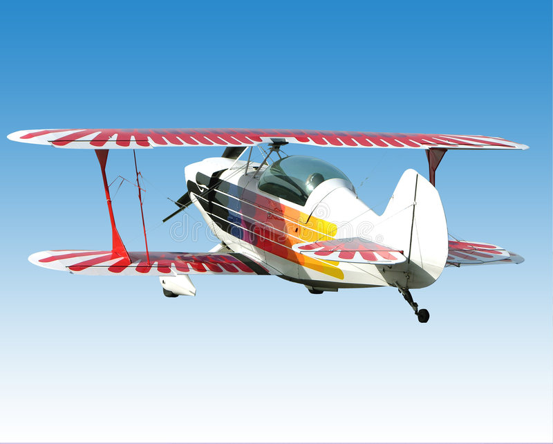 Biplane. Ready for your banner and advertisement stock image